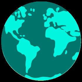 Ikona świat w kolorze, bez tła, zmniejszone do 95 px, mail powitalny life4more.pl