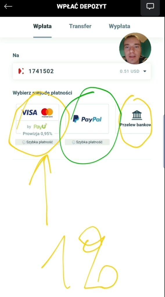 XTB Wpłata w dolarach